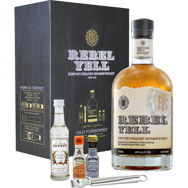 Rebel Yell Kentucky Straight Bourbon Coffret cadeau Whisky